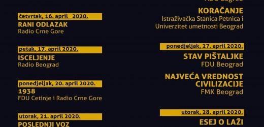 HERCEGNOVSKE APRILSKE POZORIŠNE SVEČANOSTI HAPS 2020 Festival radio-drame